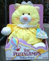 Puffalumps...OH,OH,OH I CANNOT EXPRESS HOW MUCH I LOVE THIS....I still have my Puffy that was given to me by my grandmother over 25 years ago, before I was even born. He has been a lifelong companion and I love him to death! Life would not have been the same without him.