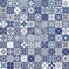 Splendida senza saldatura patchwork pattern Foto Ornamenti marocchino piastrelle blu stock, immagini e foto - (177 Immagini)