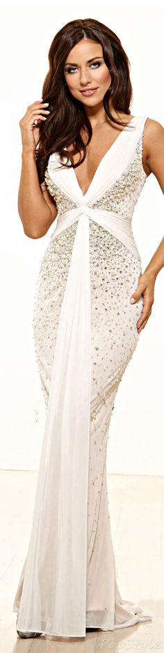 Terani Couture Evening Gown ~opulence, wealth and luxury in latest trends in women's fashion.