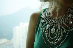 Arwen  swarovski rhinestones statement necklace  Made to von Bayila