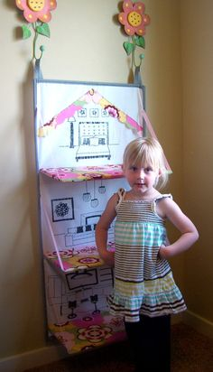 Fabric Doll House- this links to a pattern if I bought the pattern who would make it for Lili? Not I