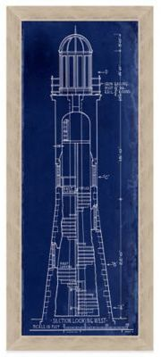 Michigan lighthouse rock of ages 117 feet tall 1908 blueprint blueprint lighthouse section1 framed wall art malvernweather Gallery