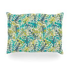 "Julia Grifol ""Tropical Leaves"" Oblong Pillow"