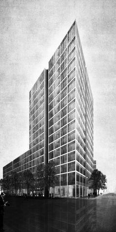 Delugan Meissl und sop gewinnen / Campustower in Hamburg - Architektur und Architekten - News / Meldungen / Nachrichten - BauNetz.de