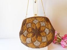 Beaded Evening Bag Vintage Handbag in by LittleBitsofGlamour