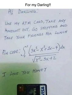 """46 Extremely Funny Memes That Will Make You Laugh Out Loud - hopefully """"darling"""" is not hiding any fantastic mathematical skills! Make Em Laugh, Laugh Out Loud, Extremely Funny Memes, Corny Jokes, Geek Humor, Daily Memes, Show And Tell, Funny Sayings, Just For Laughs"""