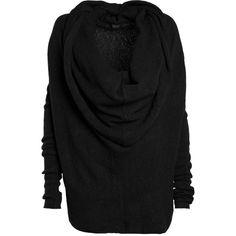 TIGER OF SWEDEN FALL Jersey-Pullover mit Schalkragen in Schwarz ($89) ❤ liked on Polyvore