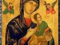 Oh Mother of Perpetual Help, grant that I may ever invoke your powerful name, the protection of the living and the salvation of the dying. Madonna, Pope Pius Xii, Cs6 Photoshop, Spanish Painters, Patron Saints, Colorful Paintings, Creative Sketches, Our Lady, Haiti