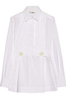 Fendi Stretch-cotton poplin shirt | NET-A-PORTER