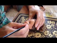 Tree Change Dolls artist Sonia Singh - DIY tips how to repaint doll face - YouTube