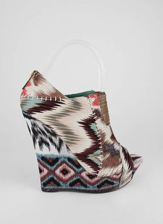 tribal wedges.  $28 #style #shoes #wedges #fashion