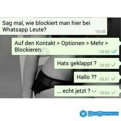 Lustige WhatsApp Bilder und Chat Fails 104 - Blockieren