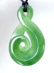 New Zealand Greenstone Koru Twist Pendant - greenstone pendant, jade pendant, new zealand ... - Shopenzed.com