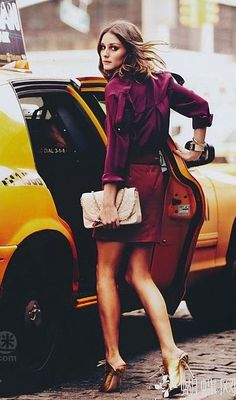 Olivia Palermo: #style #maroon