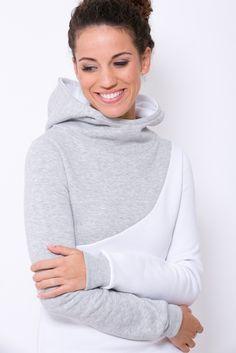 Lässiger Hoodie in Grau, Mode / casual hoodie made by blütezeit berlin via DaWanda.com