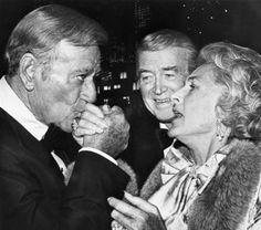 John Wayne, Jimmy Stewart and wife Gloria