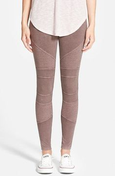moto pants in a light neutral