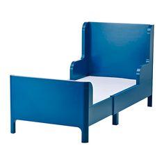 "BUSUNGE Extendable bed, medium blue - 37 3/4x74 3/4 "" - IKEA"