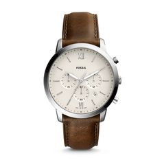 Neutra Chronograph Brown Leather Watch - Fossil