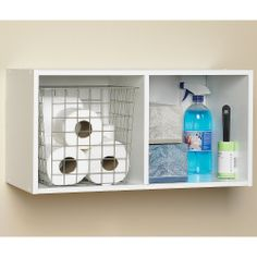 ClosetMaid Cubeicals® 2 Cube Organizer White  To Store Blankets And Sheets.  Online Only