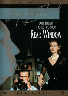 """James Stewart and Grace Kelly - """"Rear Window"""" (1954) - A wheelchair bound photographer spies on his neighbours from his apartment window and becomes convinced one of them has committed murder."""