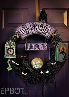 Epbot's Disney's Haunted Mansion Inspired Wreath!