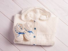 Knit Baby romper Baby booties Knit baby outfit от CrochetRedCat