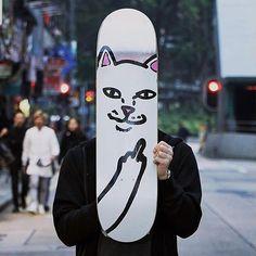 Instagram #skateboarding photo by @christovopher - #ripndip #skateboarding. Support your local skate shop: SkateboardCity.co
