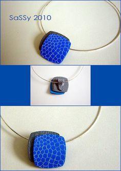 Pendant Blue-silver - September 2010 by Saskia Veltenaar, via Flickr