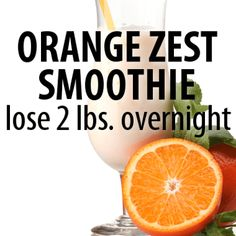Want to get ready for swimsuit season? Dr Oz has an Orange Zest Smoothie recipe as part of a shrink drink diet program to help you lose 2 pounds overnight.
