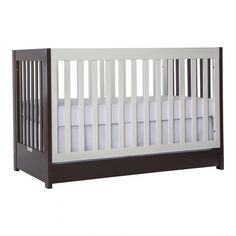Dream On Me Milano Convertible 5 in 1 Crib in White and Chocolate - $229.99