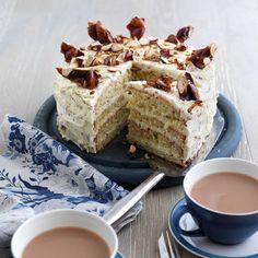 Rachel Allen's Almond Brittle Cake recipe Rachel Allen, Almond Brittle, Good Food Channel, Sponge Cake Recipes, Easy Baking Recipes, Baking Ideas, Cakes And More, Coffee Cake, Cupcake Cakes