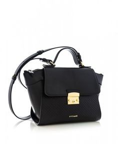YV 8219 NEGRU NAPPA TEXTURA ROMB Bags, Handbags, Bag, Totes, Hand Bags