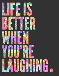 ...Laughing