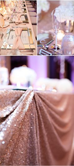 A Rose Gold Wedding Reception Inspired by Mirrored Furniture! Wedding Table, Wedding Reception, Our Wedding, 2017 Wedding, Event Planning, Wedding Planning, Glamorous Wedding, Decoration Table, Here Comes The Bride