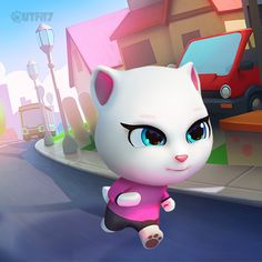 Running is great for reducing stress. Why am I stressed? B/c of all of my things that have gone missing! What a mystery!!! xo, Talking Angela #TalkingAngela #LittleKitties #MyTalkingAngela #stress #stressed #missing #stolen #mystery #running #robber