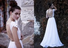 White Wedding lace dress with beaded by AtelierDeCoutureJK on Etsy