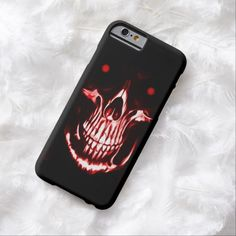 Skully Skull Demon Reaper iPhone 6, Barely There Case by Wraithe Designs.