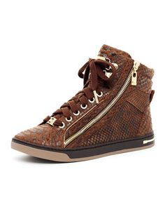 MICHAEL Michael Kors  Snake-Print High-Top.