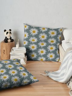 """""""White isolated Daisy flower"""" Floor Pillow by Mandsred1 