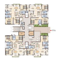 New tree graphic plan architecture Ideas Residential Building Plan, Building Design Plan, Building Layout, Residential Complex, Commercial Building Plans, Hotel Floor Plan, Architectural Floor Plans, Apartment Floor Plans, Concept Architecture