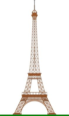 Eiffel Tower (Paris) by @ajaborsk, A side view of the famous Paris Eiffel Tower, on @openclipart
