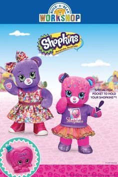 Meet the first-ever Shopkins furry friends! Get a free exclusive Shopkins figure with the purchase of either Shopkins Bear or D'lish Donut Bear!