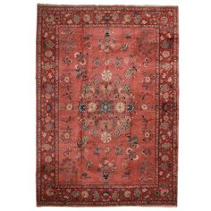 Vintage Hand Knotted Wool Turkish Sparta Rug - 10′5″ × 14′8″ ($7,800) ❤ liked on Polyvore featuring home, rugs, traditional handmade rugs, hand made rugs, hand knotted rugs, floral area rugs, hand knotted wool area rugs and handmade wool rugs