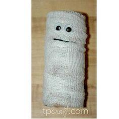 Cardboard Tube Mummy - Kids Craft