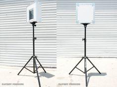 Easy tiki photo booth ipad mounted to wall with 3m hooks roll portable ipad photo booth ipad photodiy solutioingenieria Images