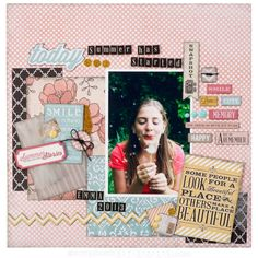 A very fun and playful layout that lets the photo shine with a balance of cute embellishments.