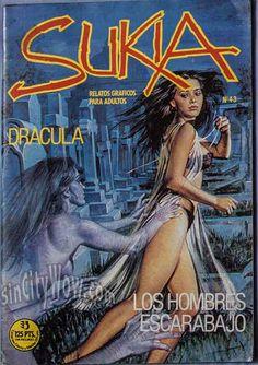 Emanuele Taglietti Fumetti Great Vampire Art -Clasic Dracula Damsel in Distress This Vintage comic for sale at SinCityWow.com