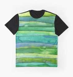 Sea of Green Stripes - Tshirt design by scatterlings