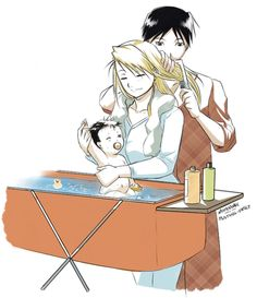 Roy and Riza - full-metal-alchemist-couples Fan Art gaaah it's too much. the cuteness it BURNS